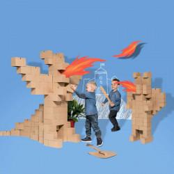 Картонные кубики GIGI GIANT XXL для детского творчества и игр. 100 штук.