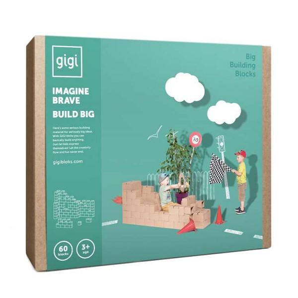 Картонные кубики GIGI GIANT XXL для детского творчества и игр. 60 штук.