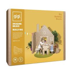 Картонные кубики GIGI XL для детского творчества и игр. 96 штук.