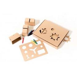 Картонные кубики GIGI XL для детского творчества и игр. 30 штук.